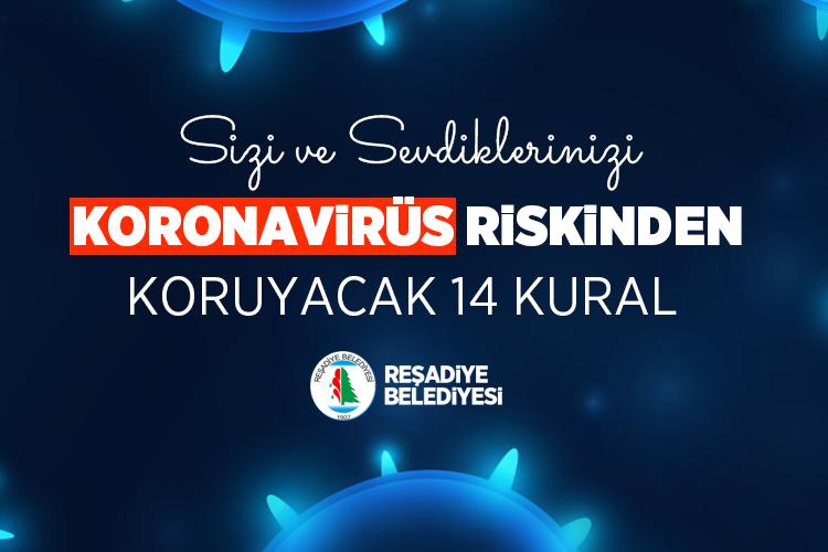 Sizi ve Sevdiklerinizi Koronavirüs riskinden koruyacak 14 Kural